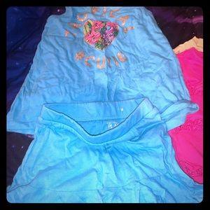 Matching girls summer outfit